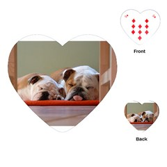 2 Sleeping Bulldogs Playing Cards (heart)