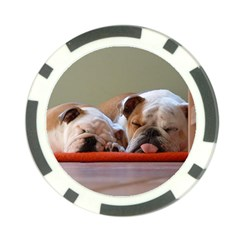 2 Sleeping Bulldogs Poker Chip Card Guards