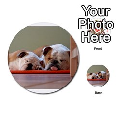 2 Sleeping Bulldogs Multi-purpose Cards (Round)