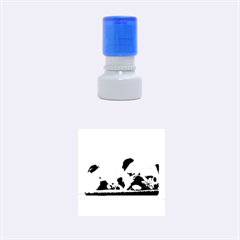 2 Sleeping Bulldogs Rubber Round Stamps (Small)