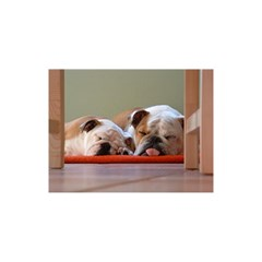 2 Sleeping Bulldogs You Are Invited 3d Greeting Card (8x4)