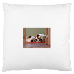 2 Sleeping Bulldogs Large Flano Cushion Cases (Two Sides)