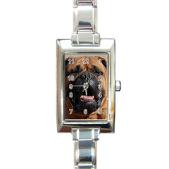 Bullmastiff Rectangle Italian Charm Watches