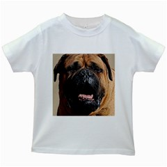 Bullmastiff Kids White T-Shirts