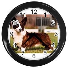 Cardigan Welsh Corgi Full Wall Clocks (Black)