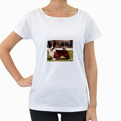 Cardigan Welsh Corgi Full Women s Loose-Fit T-Shirt (White)