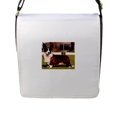 Cardigan Welsh Corgi Full Flap Messenger Bag (L)
