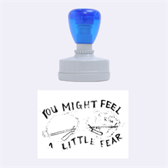 Little fear Rubber Oval Stamps