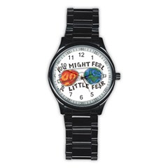 Little fear Stainless Steel Round Watches
