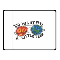 Little fear Double Sided Fleece Blanket (Small)