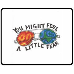 Little fear Double Sided Fleece Blanket (Medium)