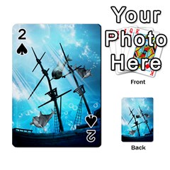 Awesome Ship Wreck With Dolphin And Light Effects Playing Cards 54 Designs