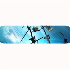 Awesome Ship Wreck With Dolphin And Light Effects Large Bar Mats