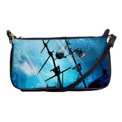 Awesome Ship Wreck With Dolphin And Light Effects Shoulder Clutch Bags