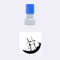 Awesome Ship Wreck With Dolphin And Light Effects Rubber Round Stamps (Small)