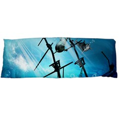 Awesome Ship Wreck With Dolphin And Light Effects Body Pillow Cases Dakimakura (two Sides)