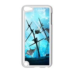 Awesome Ship Wreck With Dolphin And Light Effects Apple iPod Touch 5 Case (White)