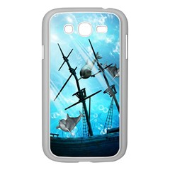 Awesome Ship Wreck With Dolphin And Light Effects Samsung Galaxy Grand DUOS I9082 Case (White)