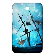 Awesome Ship Wreck With Dolphin And Light Effects Samsung Galaxy Tab 3 (7 ) P3200 Hardshell Case