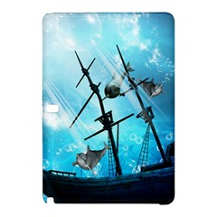 Awesome Ship Wreck With Dolphin And Light Effects Samsung Galaxy Tab Pro 12.2 Hardshell Case