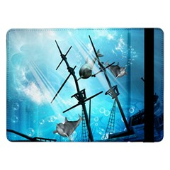 Awesome Ship Wreck With Dolphin And Light Effects Samsung Galaxy Tab Pro 12.2  Flip Case