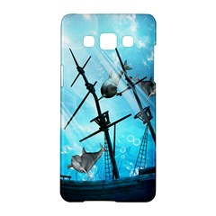Awesome Ship Wreck With Dolphin And Light Effects Samsung Galaxy A5 Hardshell Case