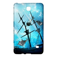 Awesome Ship Wreck With Dolphin And Light Effects Samsung Galaxy Tab 4 (7 ) Hardshell Case