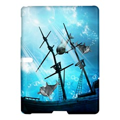 Awesome Ship Wreck With Dolphin And Light Effects Samsung Galaxy Tab S (10.5 ) Hardshell Case