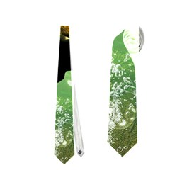 Wonderful Sea Turtle With Bubbles Neckties (Two Side)