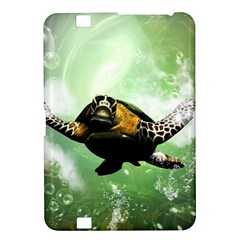 Wonderful Sea Turtle With Bubbles Kindle Fire HD 8.9