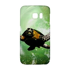 Wonderful Sea Turtle With Bubbles Galaxy S6 Edge