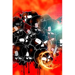 Black Skulls On Red Background With Sword 5.5  x 8.5  Notebooks