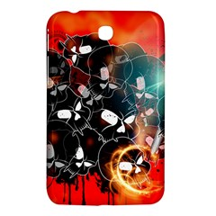Black Skulls On Red Background With Sword Samsung Galaxy Tab 3 (7 ) P3200 Hardshell Case