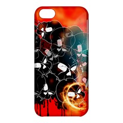 Black Skulls On Red Background With Sword Apple iPhone 5C Hardshell Case