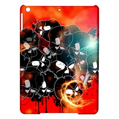 Black Skulls On Red Background With Sword iPad Air Hardshell Cases