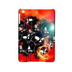 Black Skulls On Red Background With Sword iPad Mini 2 Hardshell Cases