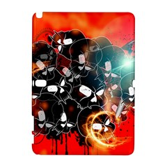 Black Skulls On Red Background With Sword Samsung Galaxy Note 10.1 (P600) Hardshell Case