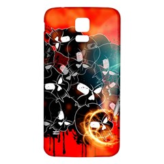 Black Skulls On Red Background With Sword Samsung Galaxy S5 Back Case (White)