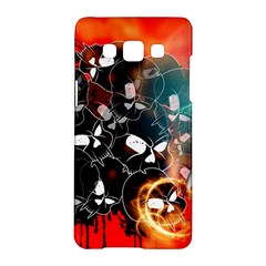 Black Skulls On Red Background With Sword Samsung Galaxy A5 Hardshell Case