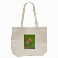 Carolina Dog Full 2 Tote Bag (Cream)