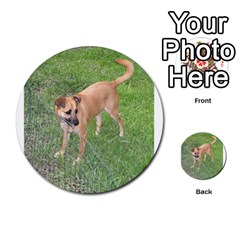 Carolina Dog Full 2 Multi-purpose Cards (Round)