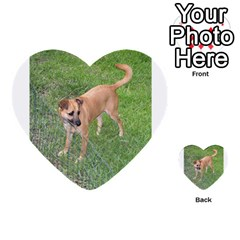 Carolina Dog Full 2 Multi-purpose Cards (Heart)