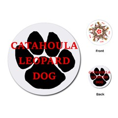 Catahoula Name Paw Playing Cards (Round)