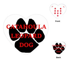 Catahoula Name Paw Playing Cards (Heart)