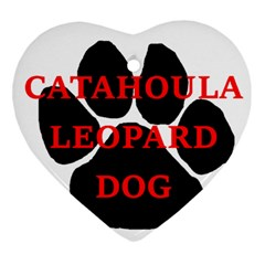 Catahoula Name Paw Heart Ornament (2 Sides)