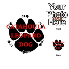 Catahoula Name Paw Playing Cards 54 (Round)