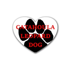 Catahoula Name Paw Heart Coaster (4 pack)