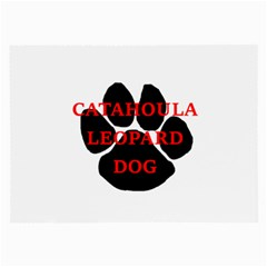 Catahoula Name Paw Large Glasses Cloth
