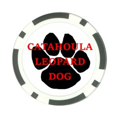 Catahoula Name Paw Poker Chip Card Guards