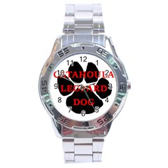 Catahoula Name Paw Stainless Steel Men s Watch